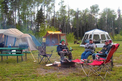 Camping on Indian Lake, Ontario at Agimac River Outfitters